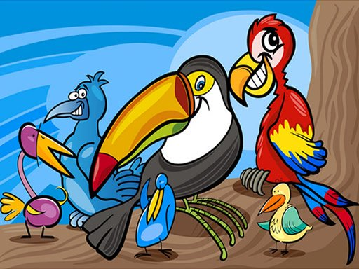 Exotic Birds Coloring Online