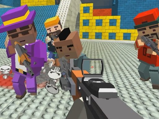 GunGame shooting warfare: blocky gangster Online
