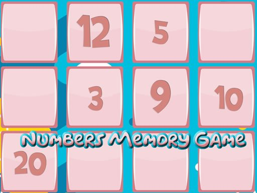 Memory Game With Numbers Online