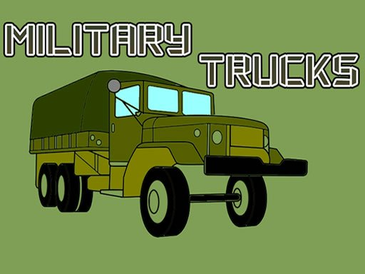Military Trucks Coloring Online