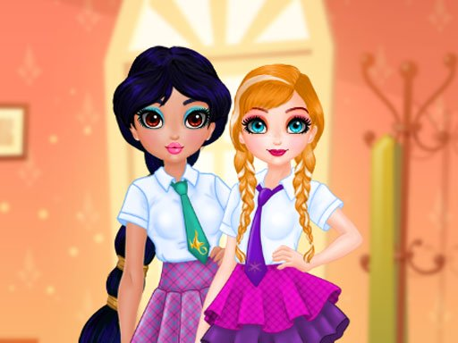 Princesses BFF Rush to School